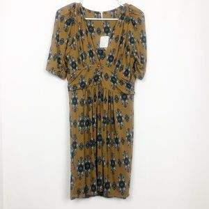 NWT Free People Olive Patterned Dress